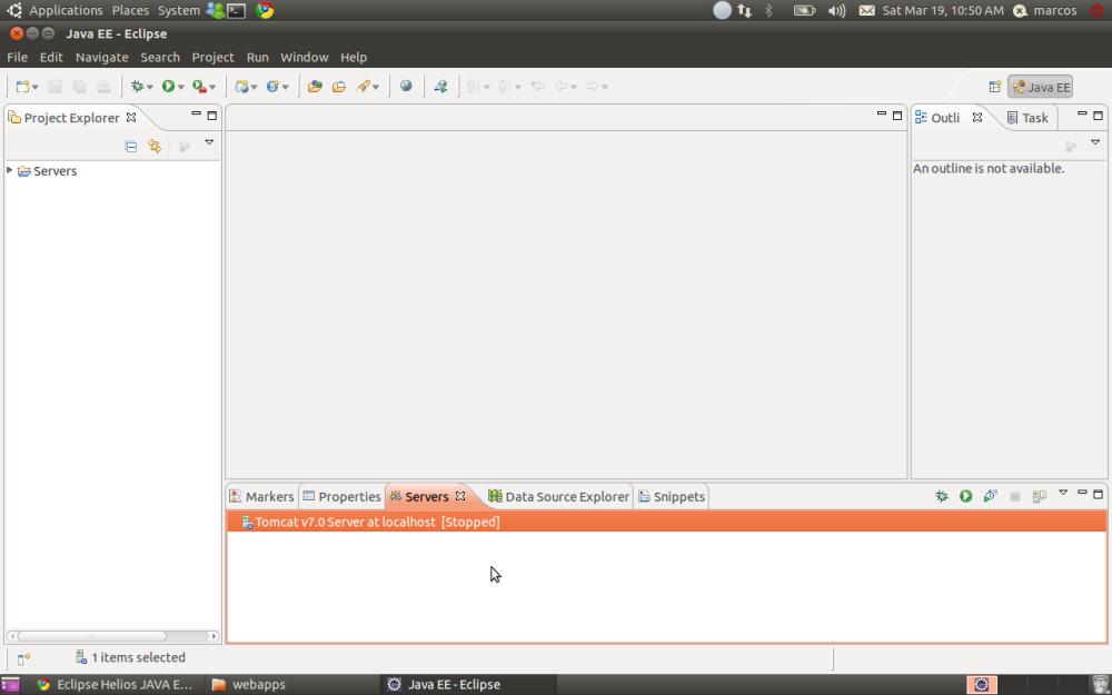 Ambiente Java EE no Ubuntu (Tomcat + Eclipse) (6/6)